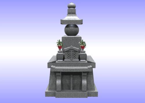 五輪塔型墓石 正面 画像