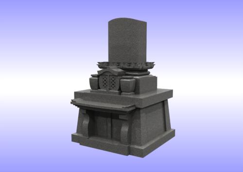 和洋折衷型墓石 右斜め 画像