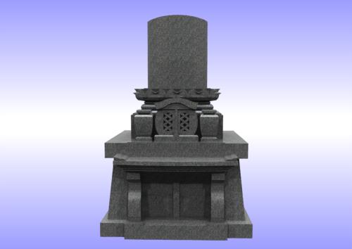 和洋折衷型墓石 正面 画像