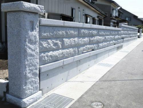 門柱・石塀 布基礎型 写真