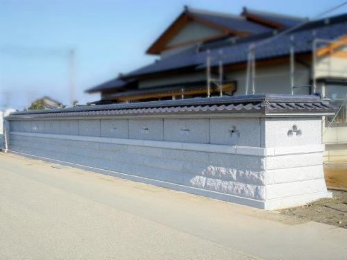 石塀 瓦型 写真