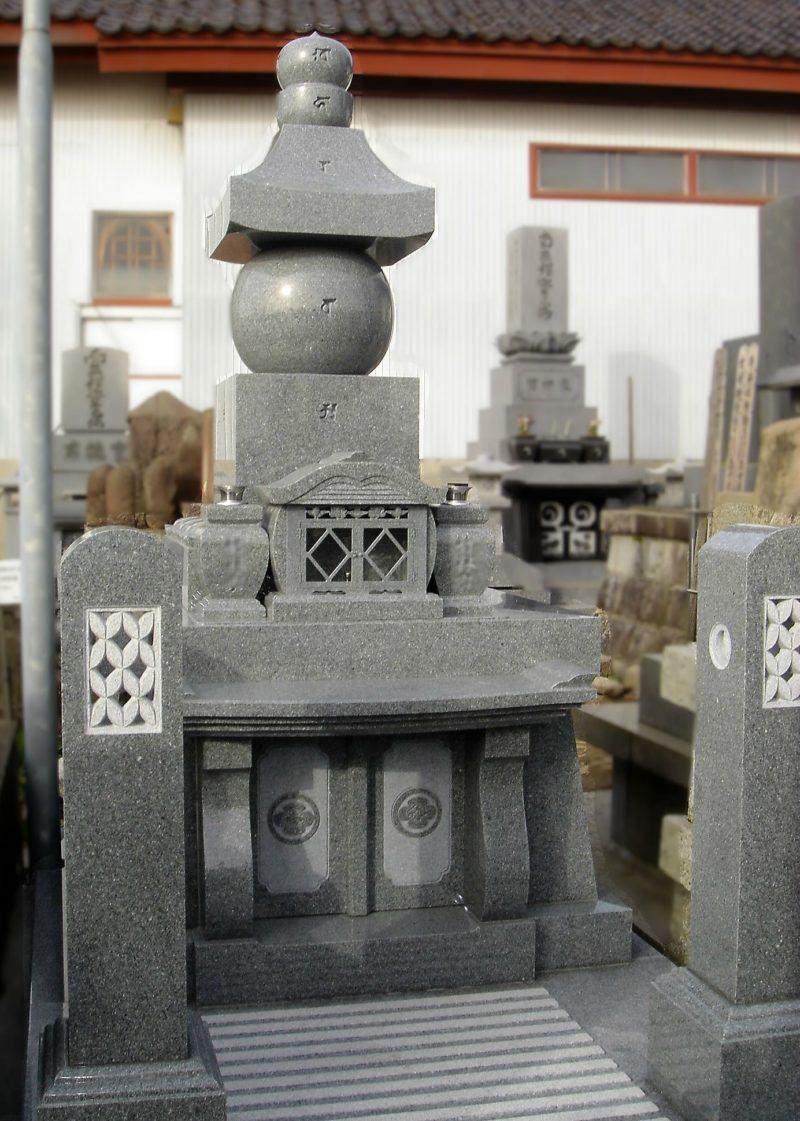 五輪塔納骨式墓石 画像