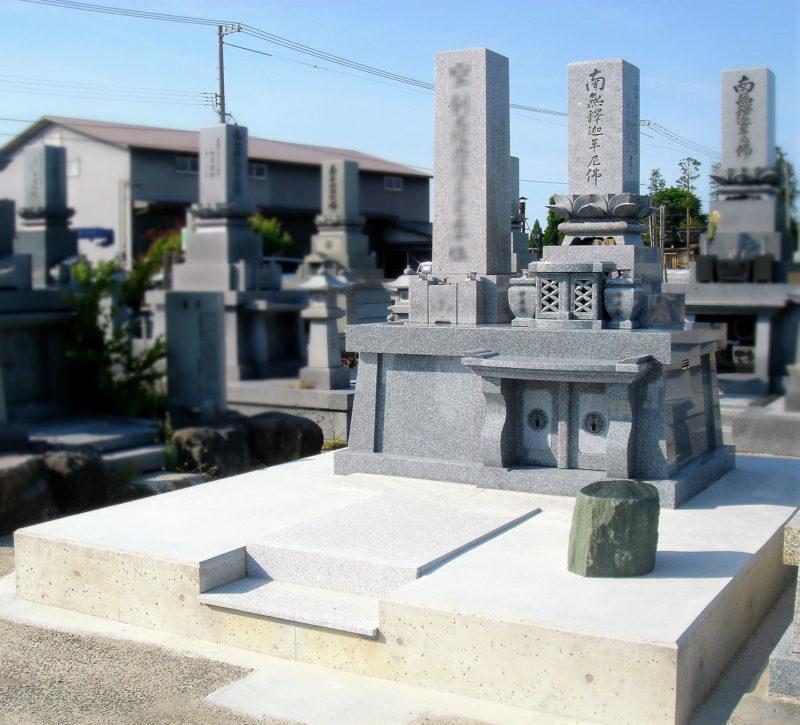 兄弟型墓石 画像