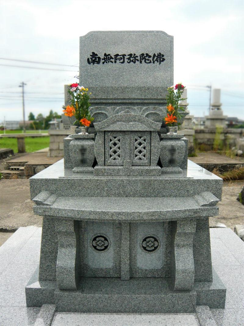 洋型墓石 蓮華付 画像
