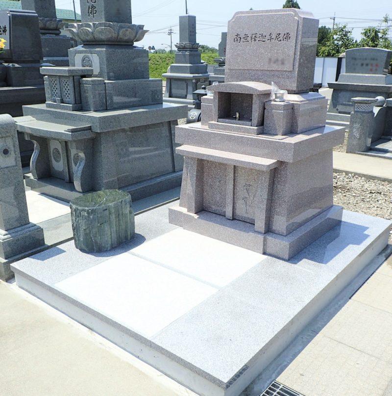 洋型墓石 舞台張り石型 画像